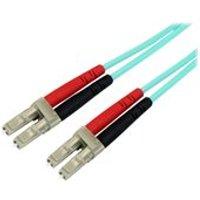 StarTech.com 2m LC Fiber Optic Cable - 10Gb Aqua - MM Duplex 50/125 - LSZH - patch cable - 2 m - aqua