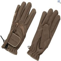 Harry Hall Domy Suede Riding Gloves - Size: L - Colour: Brown