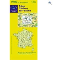 IGN Maps TOP 100 Series: 136 Dijon / Chalons-sur-Saone Folded Map