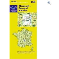 IGN Maps TOP 100 Series: 148 Clermont-Ferrand / Mauriac Folded Map