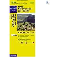 IGN Maps TOP 100 Series: 150 Lyon / Villefranche-sur-Saone Folded Map