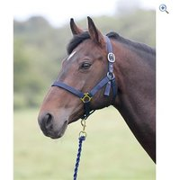 Shires Wessex Headcollar and Lead Rope Set - Size: FULL - Colour: Red