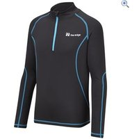 The Edge Transition Kids Zip Neck Baselayer - Size: 2 - Colour: Black