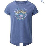 Hi Gear Bluebell Girls Tee - Size: 2 - Colour: Blue Deep