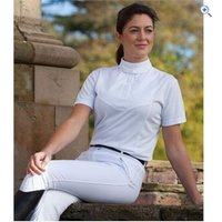 Shires Ladies Short Sleeve Stock Shirt - Size: M - Colour: White