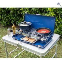 Campingaz Elite Camping Chef Double Burner and Grill - Colour: Blue