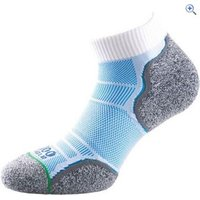 1000 Mile Breeze Womens Anklet Socks - Size: M - Colour: WHITE-BLUE