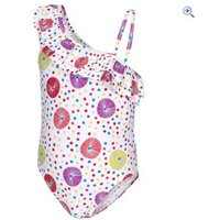 Trespass Girls Glowing Swimsuit - Size: 5-6 - Colour: White