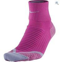 Nike Elite Running Cushion Quarter Socks - Size: 6-7.5 - Colour: Pink