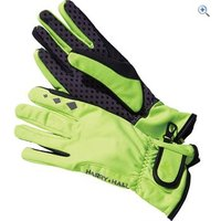 Harry Hall DWR Softshell Reflective Gloves - Size: XL - Colour: Fluo Yellow
