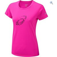 Asics Womens Graphic Running T-Shirt - Size: S - Colour: PINK GLOW