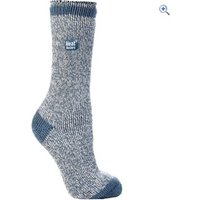Heat Holders Ladies Twist Socks - Colour: DENIM-CREAM