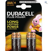 Duracell Plus Power AAA Batteries (4 Pack)