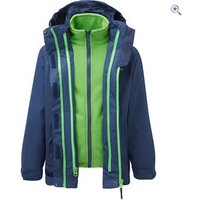Hi Gear Trent II Kids 3-in-1 Jacket - Size: 5-6 - Colour: NVY-BRIGHT GRN
