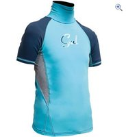 Gul Girls Junior Rashguard Short Sleeve - Size: S - Colour: TURQUOISE-NAVY