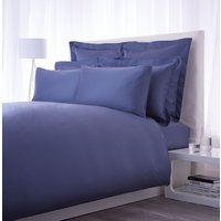Luxury Hotel Collection 500 TC airforce blue fitted sheet super king, Blue