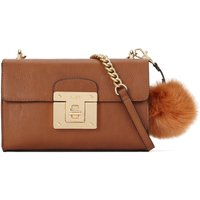 Aldo Chirade xs cross body bag with pom pom, Cognac