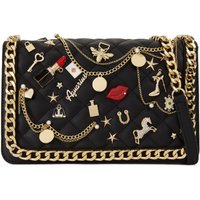 Aldo Lousana cross body bag with charms, Black