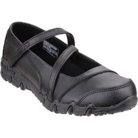 Skechers Girls Gemz Bar Strap Shoes, Black