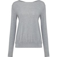 Label Lab Yoga jersey cowl back top, Grey Marl