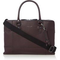 Ted Baker Jager Leather Document Bag, Red