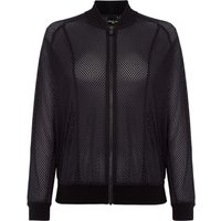 Label Lab Mesh bomber jacket, Black