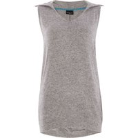 Label Lab Cross back sleeveless hoody, Grey Marl