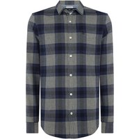 Men's Original Penguin Brushed Flannel Plaid Shirt, Blue