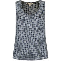 Yumi Tile Print Camisole Top, Blue