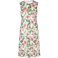 Uttam Boutique Floral Print Lace Shift Dress, Multi-Coloured