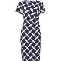 Roman Originals Geo Crepe Print Dress, Blue
