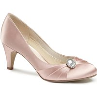 Paradox London Pink Harmony Round Toe Court Shoes, Pink