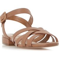 Dune Insley woven strap low block sandals, Brown