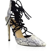 Lost Ink Chilli ghillie lace court shoes, Leopard Print