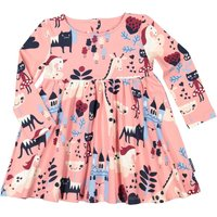 Polarn O. Pyret Baby Girl Fairy Tale Print Dress, Pink