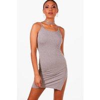Side Split Midaxi Dress - grey
