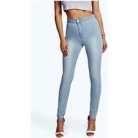 High Waist Tube Jeans - blue