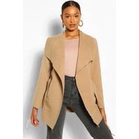 Waterfall Coat - camel