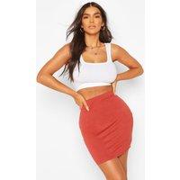 Basic Jersey Mini Skirt - rust