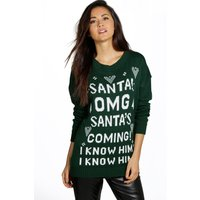 Santas Coming Christmas Jumper - bottle