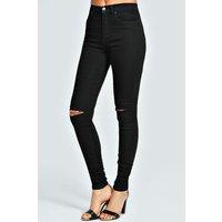 Black 5 Pocket Full Length Jeans - black