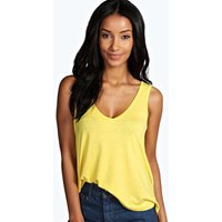 V Neck Vest - yellow