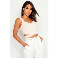 Cut Out Bralet - nude