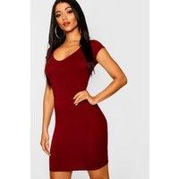 Sweetheart Bodycon Dress - berry