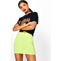Basic Bodycon Mini Skirt - lime