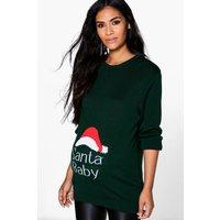 Maisie Santa Baby Christmas Jumper - green