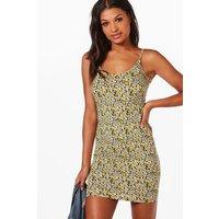 Floral Print Strappy Bodycon Dress - multi
