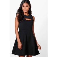 Cutout Sleeveless Dress - black