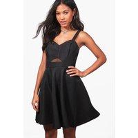 Strappy Prom Dress - black