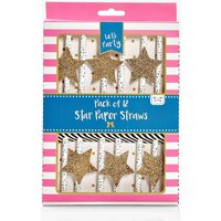 12 Pack Of Party Straws - gold